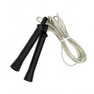 Skipping Rope Leather Black Double Jab